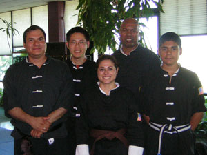 Daina Garcia Kung Fu rank test picture.