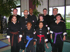 Wang's Martial Arts Kung Fu rank test picture on 11-19-11.